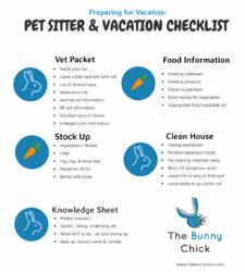 pet sitter check list